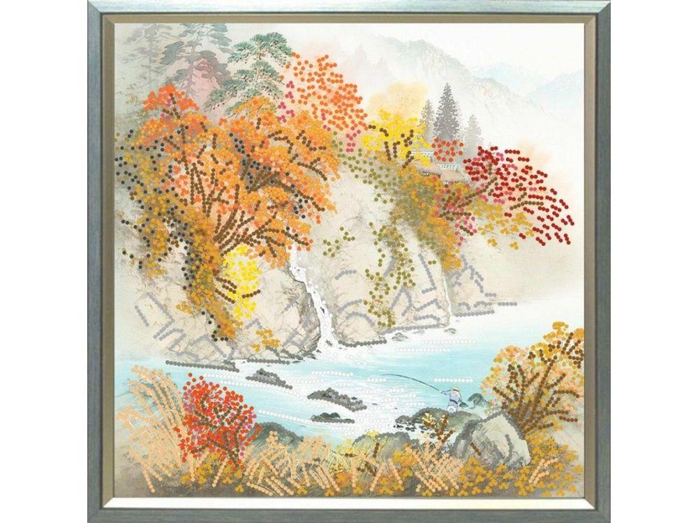 Рисунок на ткани «Осень в горах»