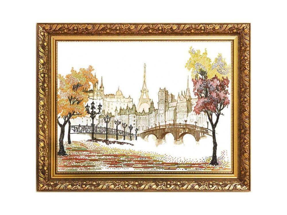 Рисунок на ткани «Осень в Париже»