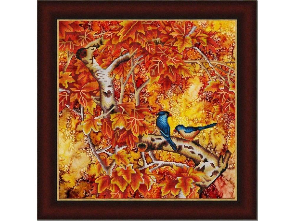Рисунок на ткани «В осеннем лесу»
