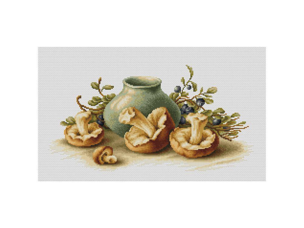 Набор для вышивания «Натюрморт с грибами»